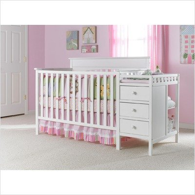 cribs with attached changing table crib and changing table in classic white