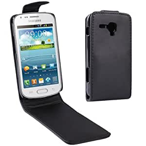 Vertical Flip Leather Case for Samsung Galaxy Trend Duos / S7562 (Black)