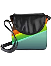 Snoogg Set Of Colorful Strips Womens Sling Bag Small Size Tote Bag