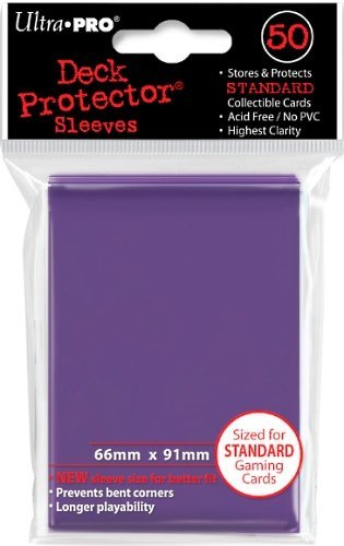 Standard Sized Sleeves 50 Count Purple Ultra Pro Deck Protectors x3