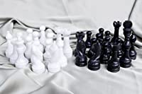 RADICALn Black and White Marble Big Chess Figures - Total 32 figures - Suitable for 16 to 20 inches Chess Board