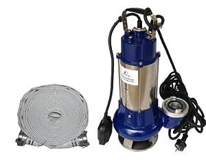 Schmutzwasserpumpe Tauchpumpe Vortex 1340 G im Set mit 1Stk. C Schlauch