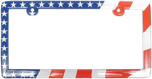 Custom Accessories 92720 Clear American Flag License Plate Frame (American License Plate Frame compare prices)