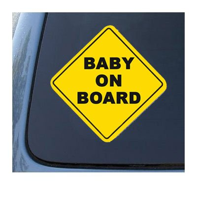 Set of 2 BABY ON BOARD - Child Warning - Car, Truck, Notebook, Vinyl Decal Sticker