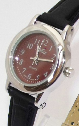 Ladies/Womens New Reflex Watch-Chrome Case (25mm) Red Dial - 18cm Strap (101209LT)