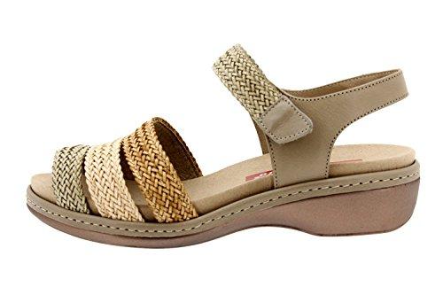 Scarpe donna comfort pelle Piesanto 8808 sandali soletta estraibile comfort larghezza speciale
