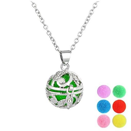 MJARTORIA-Damen-Halskette-Hohl-Blumen-Muster-Halskette-ffenbar-Anhnger-mit-bunter-Aromatherapie-Kugeln-Silber-Farbe
