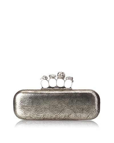 Alexander McQueen Women's Clutch Knukle Box, Black Gold