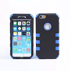 iPhone 6 case, Apatner New Hybrid Rugged Rubber Hard Glossy Plastic Protective Case Shockproof Case for iPhone 6 6S(Blue)