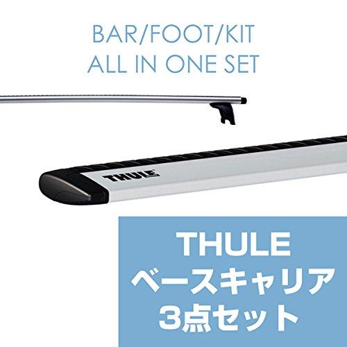 THULE(スーリー) ハリアー専用ベースキャリアセット(フット754+ウイングバー962+キット1298) ルーフレールなし H15/2~ U30W/U31W/U35W/U36W