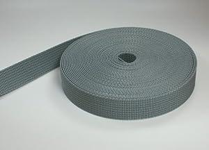 50m PP Gurtband - 20mm breit - 1,8mm stark - grau (UV)