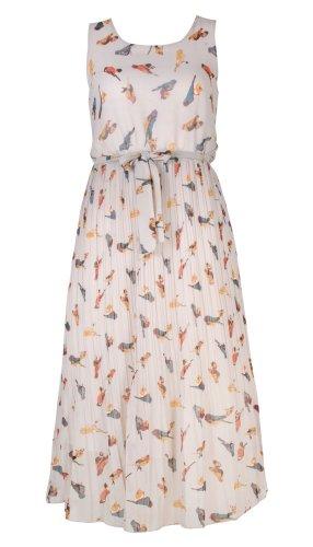 Banana Flame Birdy Chiffon Midi Dress
