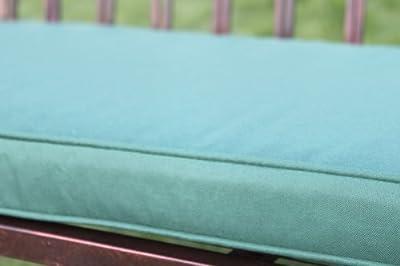 Gartenmöbel-Auflage - Auflage für 2-Sitzer-Metall-Gartenbank in Grün von Olive Grove bei Gartenmöbel von Du und Dein Garten