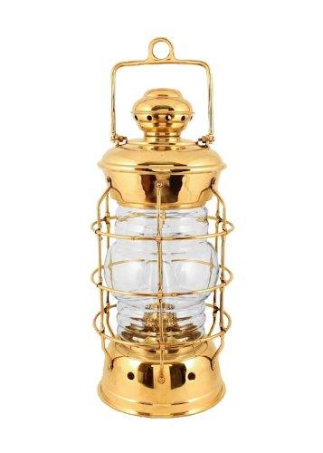 """Oil Lanterns - Brass Nelson Nautical Lamp 15.5"""" - Hurricane Oil Lamp"""