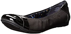 AK Anne Klein Sport Women's Staycalm Fabric Ballet Flat, Black, 7.5 M US
