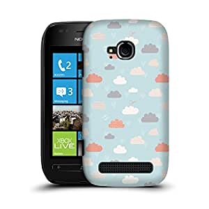 MobileGlaze Designs Happy Cloud Life inCloud Pattern Hard Back Case Cover for NOKIA LUMIA 710