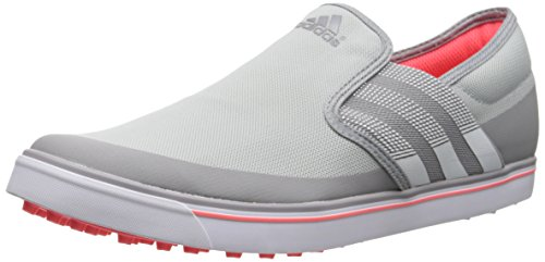 adidas Women's W Adicross SL Golf Shoe, Clear Onix/Running White/Flash Red, 8 M US