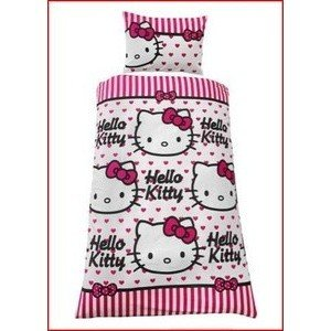 Childrens/Kids Hello Kitty Bedding Sheets Set cxzyking 20cm sweet new kt cat hello kitty plush toys cute hug mushroom hello kitty kt cat pillow dolls for kids baby girl gift