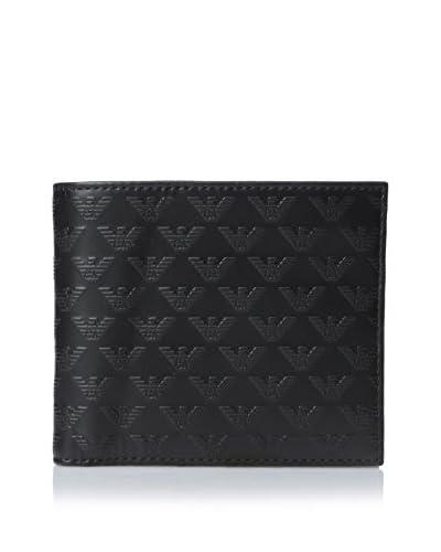 Emporio Armani Men's Logo Bi-Fold Wallet, Black