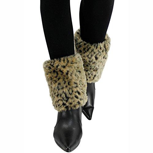 Leopard Faux Fur Leg Warmer