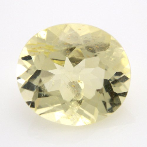 Natural Yellow Beryl Loose Gemstone Oval Cut 1.15cts 7.5*6.8mm VVS Grade Gem