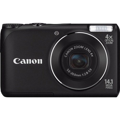 Canon Powershot A2200 14.1 MP Digital Camera with 4x Optical Zoom (Black)