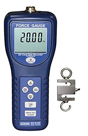 Reed SD-6100 Force Gauge and Data Logger, 100 kg Capacity, 0.15 kg Resolution, +/-5% Accuracy