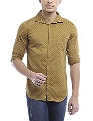 Bandit Khaki Casual slim Fit Shirt
