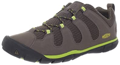 Keen Women's Haven CNX Hiking Shoe,Cascade Brown/Bright Chartreuse,5 M US