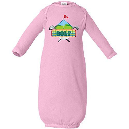 Inktastic Baby Boys' Golf Diamond Logo Baby Layette Sleepers Newborn Pink