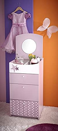 Kinderzimmer - Kommode Ines 03, Farbe: Rosa - Abmessungen: 88 x 45 x 52 cm (H x B x T)