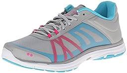 RYKA Women\'s Dynamic 2 Cross-Training Shoe, Cool Mist Grey/Detox Blue/Athena Pink/Chrome Silver, 9.5 M US