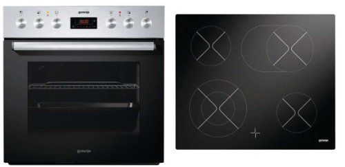 Gorenje Hot-Set (BC 6306ZX + ECD 620BSC) edelstahl/schwarz