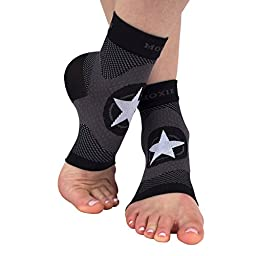 Compression Foot Sleeve for Plantar Fasciitis Treatment and Foot and Ankle Support (Large)