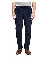 Yepme Men's Blue Polyester Trousers - YPMTROU0032_36