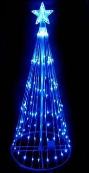 #!Cheap 4' Blue LED Light Show Cone Christmas Tree Lighted Yard Art Decoration