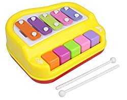 Sunshine Musical Xylophone and Mini Piano, Non Toxic, Non-battery