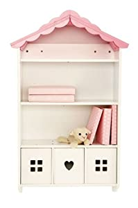 Wooden Wall Shelves in Pink Doll House Design: Amazon.co.uk: Kitchen ...