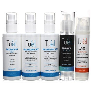 Tu'El Combo Skin Custom Skin Care Set 5 Pc Set