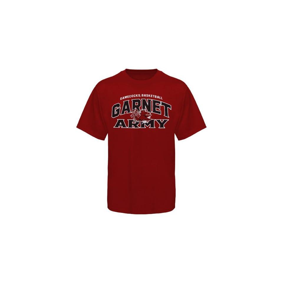 NCAA South Carolina Gamecocks Garnet I Love College Hoops Team Spirit Garnet Army T shirt