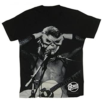David Bowie - Acoustic Mens S/S T-Shirt In Black: Amazon.co.uk