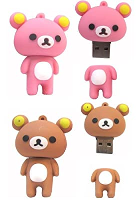 Silicone Bear High Speed USB 2.0 High Speed Flash Pen Drive Disk Silicon Memory Stick Support Windows and Mac OS Shock Proof Great Gift