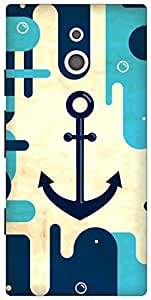 The Racoon Lean the navy hard plastic printed back case for Sony Xperia P