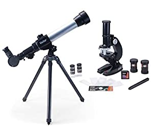 Vivitar VIV-TELMIC-20 20x/30x/40x Telescope and Microscope Kit (Black)