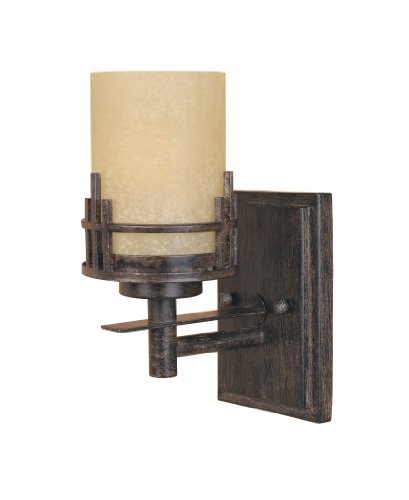 Designers Fountain 82101-WM Mission Ridge Wall Sconce, Warm Mahogany