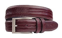 2903 - Marco LTD Men's Lizard Embossed Genuine Leather Dress Belt Big & Tall 50(fits 48