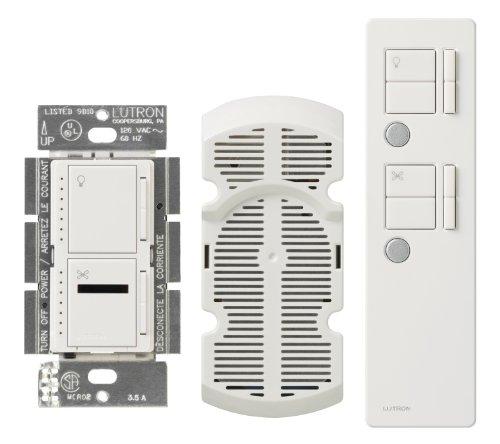 Lutron MIR-LFQMT-WH Maestro 300 Watt Dual IR Dimmer and Fan Speed Control Switch, White