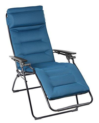 Lafuma-LFM3051-6893-gepolsteter-Relax-Liegestuhl-klappbar-und-verstellbar-Futura-Air-Comfort-blau
