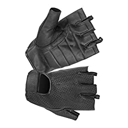 Hugger Glove Company Men\'s Weatherlite Fingerless Glove Medium Black