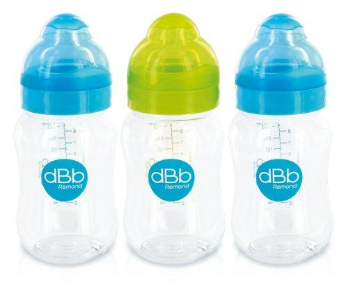 3er-Pack-Weithals-Babyflaschen-250-ml-2-x-Trkis-und-1-x-Grn